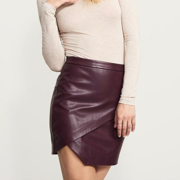 d653b45b5 Dynamite Dresses & Skirts - ✨ NWOT Gorgeous burgundy faux leather mini skirt